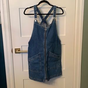 Topshop Moto Denim (Dungaree) Dress